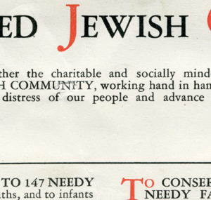 Founding of The Associated – Merger of the Associated Jewish Charities and the Jewish Welfare Fund Image