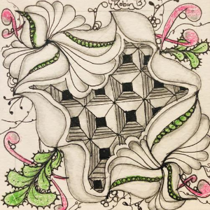 Robin Belsky's doodle from Zentangling