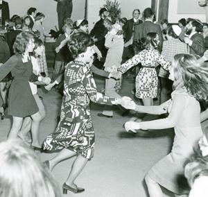 JCC children & teen programs, teens dancing, c.1960's