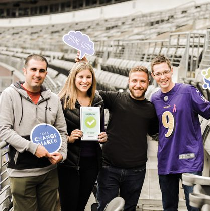 Young adults getting in on the action at 2019's Super Sunday at Ravens stadium