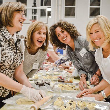women making hamantaschen event
